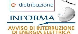 e-distribuzione informa vviso di interrruzione di energia elettrica
