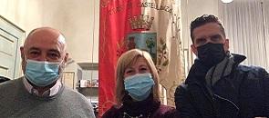 Il sindaco di Castellanza, insieme all'assessore alla sicurezza Giuliano Vialetto e all'assessore di Busto Max Rogora