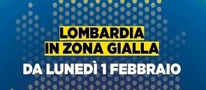 Lombardia in zona gialla da lunedì 1 febbraio
