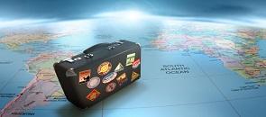 valigia sul mappamondo