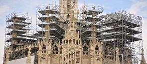 Il cantriere del Duomo - guglie absidali