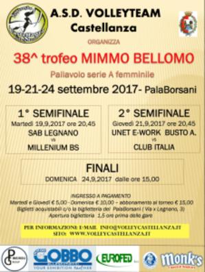 Locandina Trofeo Bellomo