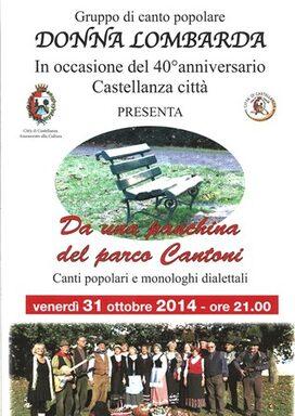 Locandina concerto Coro Donna Lombarda