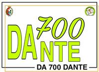 Logo delle iniziative per la celebrazione dei 700 anni dalla morte di Dante della Biblioteca Civica di Castellanza