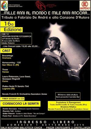 Locandina tributo a Fabrizio De Andrè